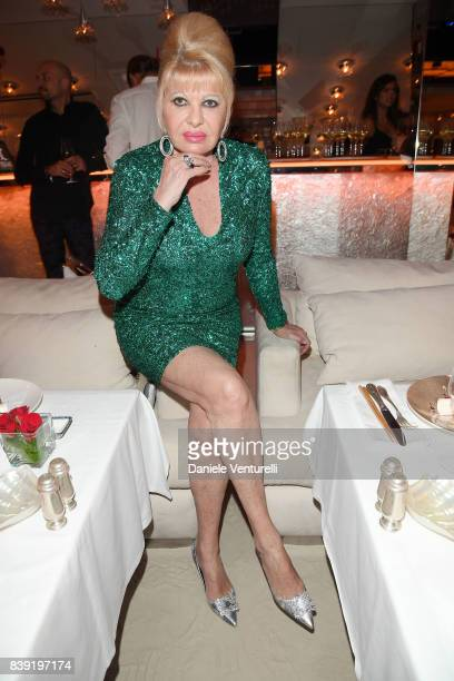 Ivana Trump attends the Lady Monika Bacardi's Birthday Party on August 25 2017 in SaintTropez France