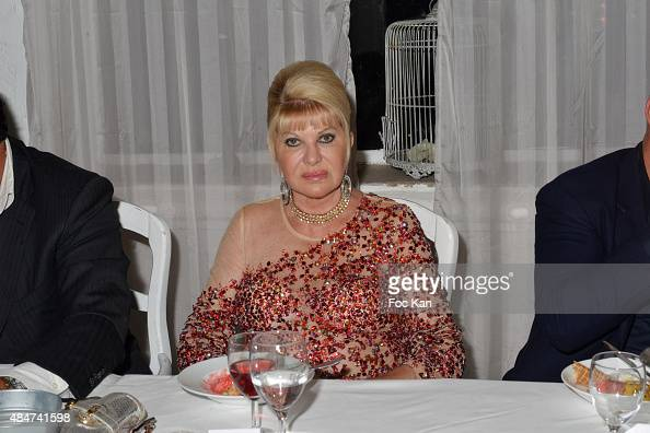 Ivana Trump attends the Massimo Gargia Birthday Party at Les Moulins De Ramatuelle on August 20 2015 in SaintTropez France