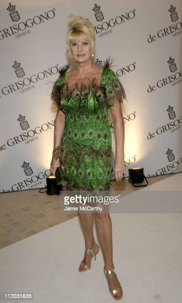 Ivana Trump during 2005 Cannes Film Festival de Grisogono Party at Hotel Du Cap in Cannes France