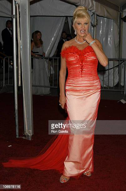 Ivana Trump during 'AngloMania' Costume Institute Gala at The Metropolitan Museum of Art Departures Celebrating 'AngloMania Tradition and...