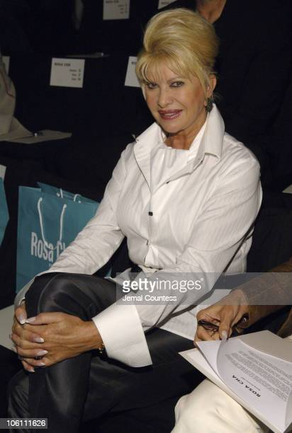 Ivana Trump during Olympus Fashion Week Spring 2007 Rosa Cha Front Row and Backstage at The Tent Bryant Park in New York City New York United States