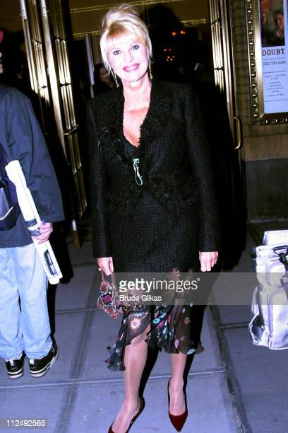 Ivana Trump during Opening Night for John Patrick Shanley's 'Doubt' on Broadway at The Walter Kerr Theater and The Supper Club in New York City New...
