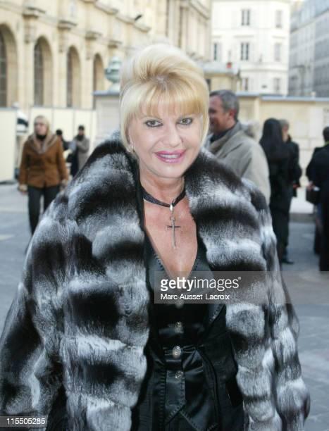 Ivana Trump during Paris Fashion Week Haute Couture Spring/Summer 2006 Christian Lacroix Arrivals at Ecole National des Beaux Arts in Paris France