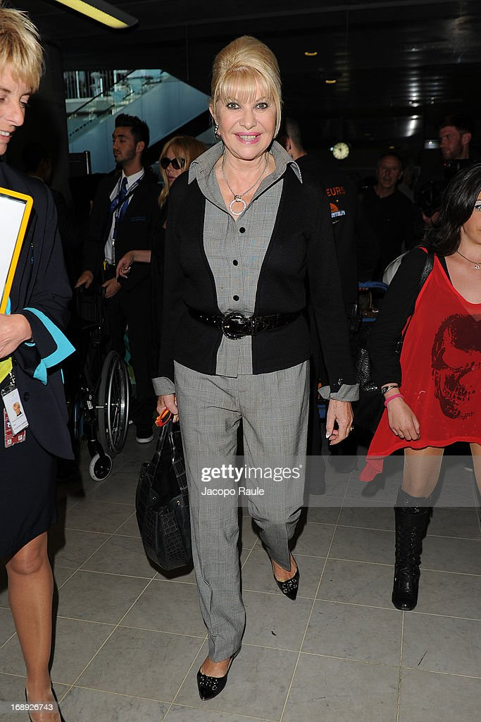 <a gi-track='captionPersonalityLinkClicked' href=/galleries/search?phrase=Ivana+Trump&family=editorial&specificpeople=159374 ng-click='$event.stopPropagation()'>Ivana Trump</a> is seen arriving at Nice airport during The 66th Annual Cannes Film Festival on May 17, 2013 in Nice, France.