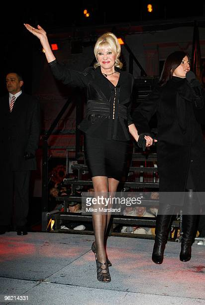 Ivana Trump is the sixth person evicted from this year's Celebrity Big Brother at Elstree Studios on January 27 2010 in Borehamwood England