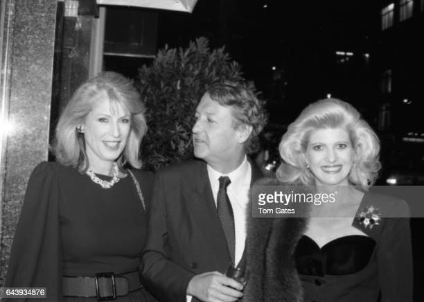 Ivana Trump Lauren Veronis and John Bergeron attend a party at 'Chumet' to celebrate their 'Renaissance' jewelry line in October 1988 in New York New...