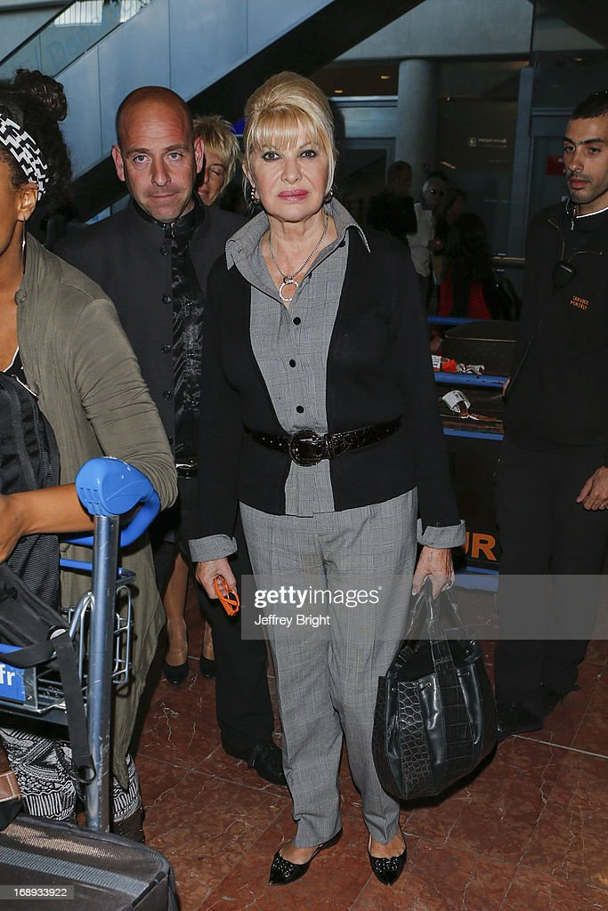 <a gi-track='captionPersonalityLinkClicked' href=/galleries/search?phrase=Ivana+Trump&family=editorial&specificpeople=159374 ng-click='$event.stopPropagation()'>Ivana Trump</a> seen at Nice airport during the 66th Annual Cannes Film Festival at Nice Airport on May 17, 2013 in Nice, France.