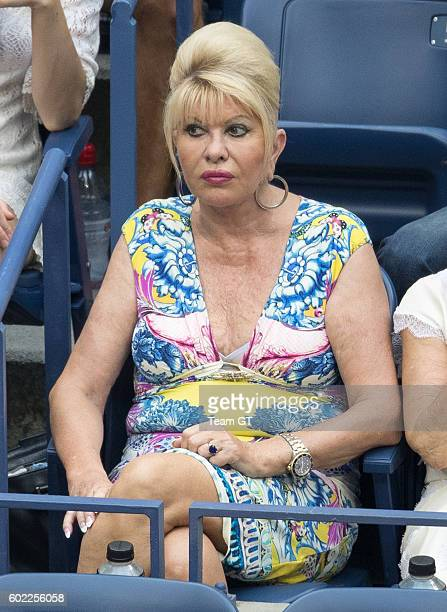 Ivana Trump seen at USTA Billie Jean King National Tennis Center on September 10 2016 in the Queens borough of New York City