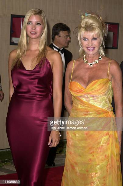Ivana Trump with daughter Ivanka Trump during Red Cross Ball 2002 Arrivals / Bal de la Croix Rouge 2002 Arrivals at MonteCarlo Sporting Club in...