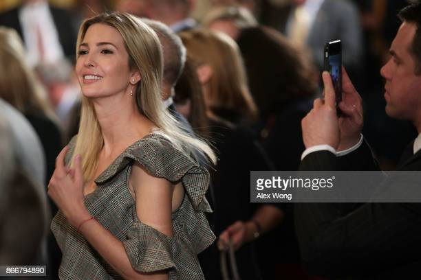 Ivanka Trump Adviser and daughter of President Donald Trump attends an event highlighting the opioid crisis in the US October 26 2017 in the East...