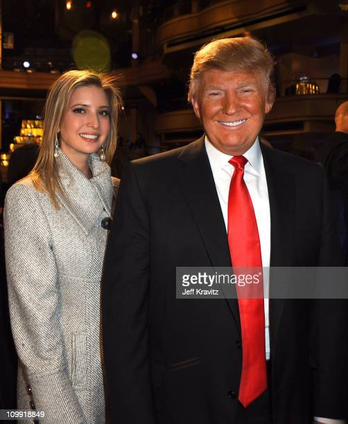 Ivanka Trump and Donald Trump attend the COMEDY CENTRAL Roast of Donald Trump at the Hammerstein Ballroom on March 9 2011 in New York City