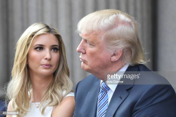 Ivanka Trump and Donald Trump attend the Trump International Hotel Washington DC Groundbreaking Ceremony at Old Post Office on July 23 2014 in...
