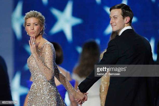 Ivanka Trump and husband Jared Kushner dance at the Freedom Inaugural Ball at the Washington Convention Center January 20 2017 in Washington DC...
