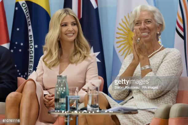 Ivanka Trump and International Monetary Fund Managing Director Christine Lagarde attend the launch of the World Bank's Women's Entrepreneurship...