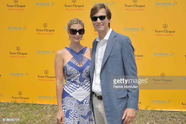 Ivanka Trump and Jared Kushner attend 2010 VEUVE CLICQUOT Polo Classic at Governors Island on June 27 2010 in New York City