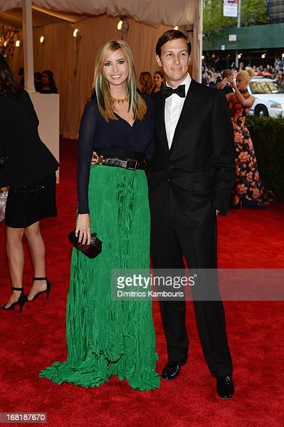 Ivanka Trump and Jared Kushner attend the Costume Institute Gala for the 'PUNK Chaos to Couture' exhibition at the Metropolitan Museum of Art on May...