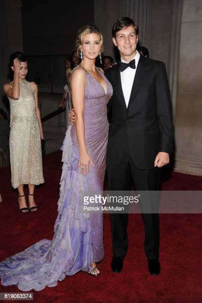 Ivanka Trump and Jared Kushner attend THE METROPOLITAN MUSEUM OF ART'S Spring 2010 COSTUME INSTITUTE Benefit Gala at THE METROPOLITAN MUSEUM OF ART...
