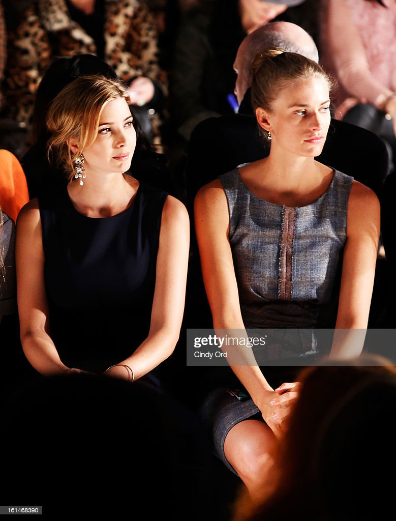 <a gi-track='captionPersonalityLinkClicked' href=/galleries/search?phrase=Ivanka+Trump&family=editorial&specificpeople=159375 ng-click='$event.stopPropagation()'>Ivanka Trump</a> (L) and Juilie Henderson attend the Carolina Herrera Fall 2013 fashion show during Mercedes-Benz Fashion Week at The Theatre at Lincoln Center on February 11, 2013 in New York City.