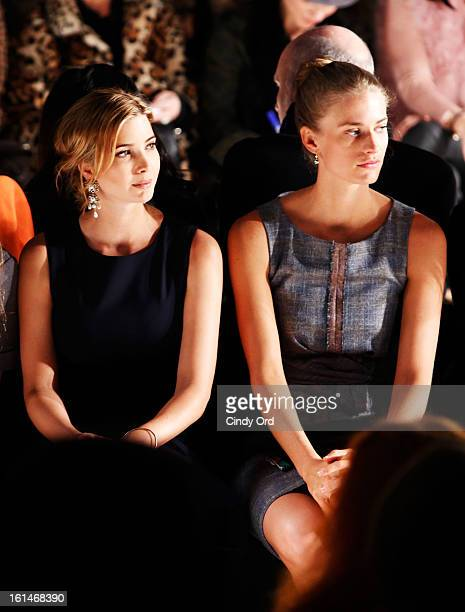 Ivanka Trump and Juilie Henderson attend the Carolina Herrera Fall 2013 fashion show during MercedesBenz Fashion Week at The Theatre at Lincoln...