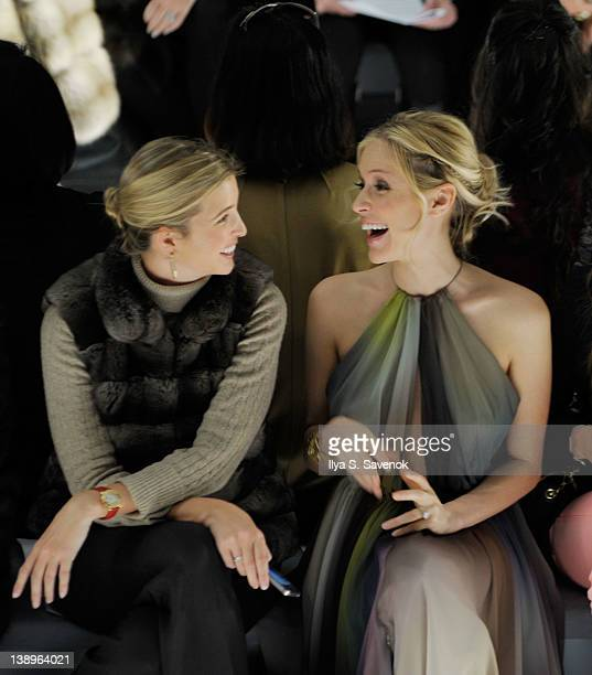 Ivanka Trump and Kristin Cavallari attend the Dennis Basso Fall 2012 fashion show during MercedesBenz Fashion Week at the The Stage at Lincoln Center...
