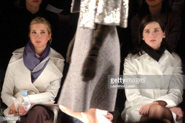 Ivanka Trump and Michele Hicks during Olympus Fashion Week Fall 2004 Behnaz Sarafpour at Bryant Park in New York City New York United States