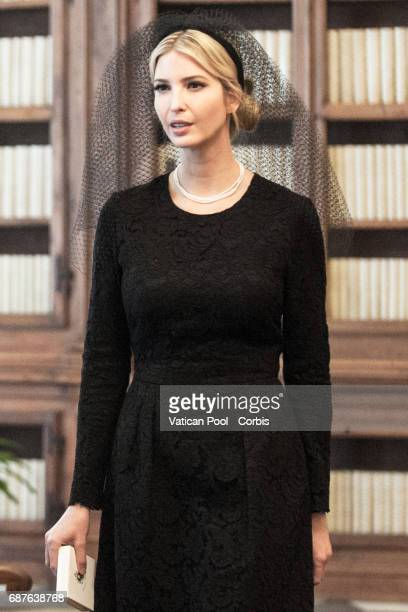 Ivanka Trump arrives with the delegation of President of United States of America Donald Trump and Wife Melania Trump for a meeting with Pope Francis...