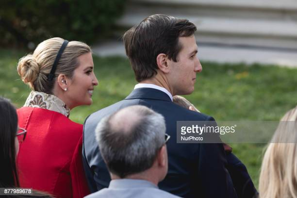Ivanka Trump assistant to US President Donald Trump and Jared Kushner senior White House adviser were in attendance for the National Thanksgiving...