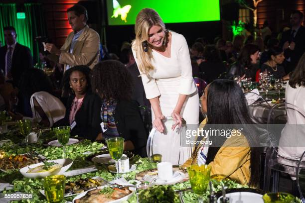 Ivanka Trump assistant to US President Donald Trump speaks to high school students at the Fortune's Most Powerful Women conference in Washington DC...