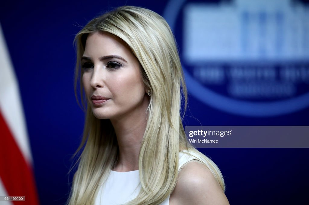 Ivanka Trump attends an event at the Eisenhower Executive Office Building April 4, 2017 in Washington, DC. U.S. President Donald Trump also delivered remarks and answered questions from the audience during a town hall event with CEO's on the American business climate.