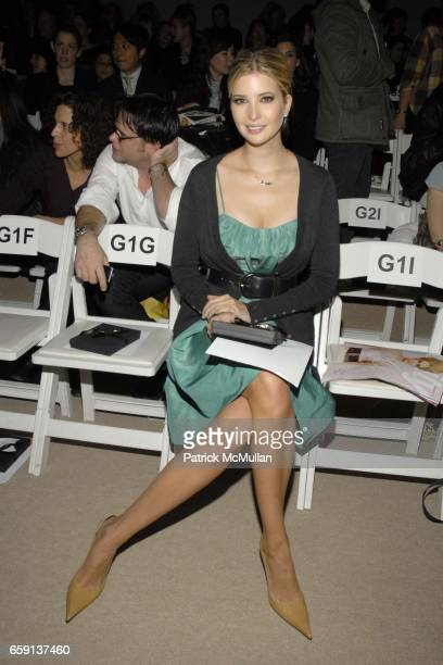 Ivanka Trump attends BRIAN REYES Fall 2009 Collection at Bryant Park Tents on February 19 2009 in New York City