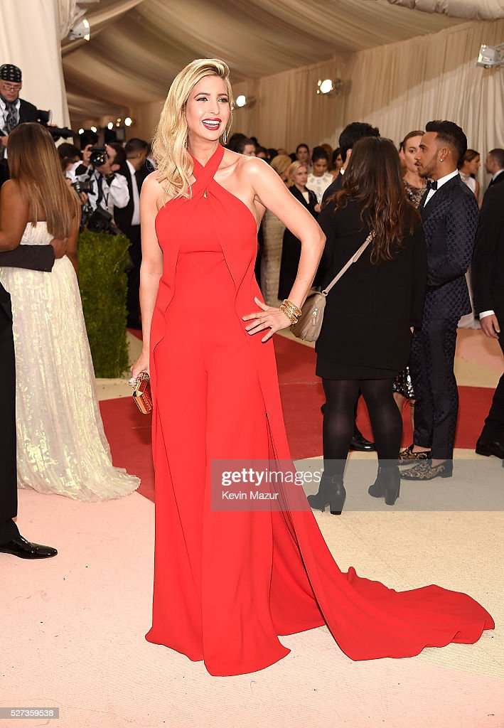 Ivanka Trump attends 'Manus x Machina: Fashion In An Age Of Technology' Costume Institute Gala at Metropolitan Museum of Art on May 2, 2016 in New York City.
