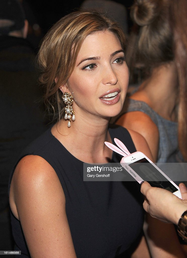 Ivanka Trump attends the Carolina Herrera fashion show during Fall 2013 Mercedes-Benz Fashion Week at The Theatre at Lincoln Center on February 11, 2013 in New York City.