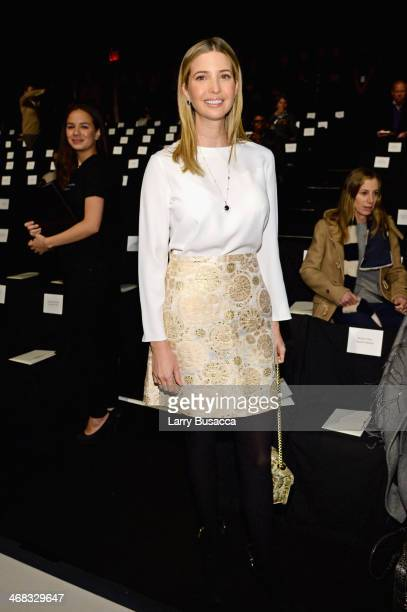 Ivanka Trump attends the Carolina Herrera fashion show during MercedesBenz Fashion Week Fall 2014 at The Theatre at Lincoln Center on February 10...