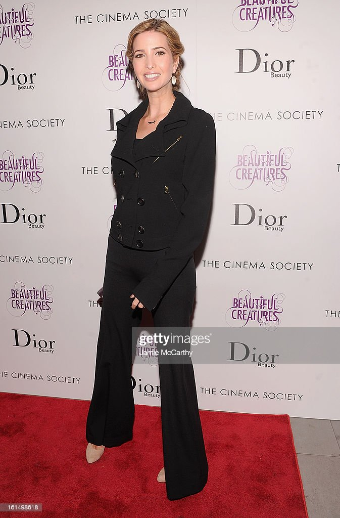 Ivanka Trump attends The Cinema Society And Dior Beauty Presents A Screening Of 'Beautiful Creatures' at Tribeca Cinemas on February 11, 2013 in New York City.