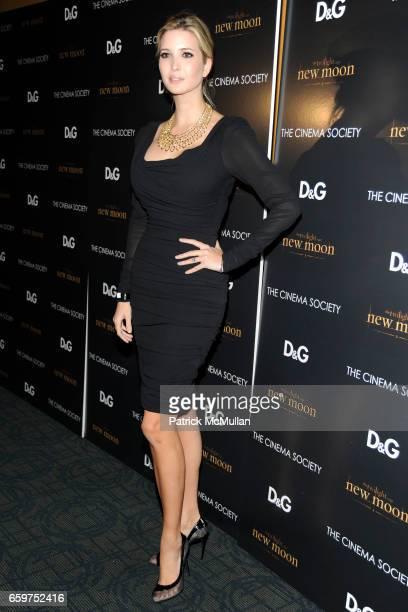 Ivanka Trump attends THE CINEMA SOCIETY DG host a screening of 'THE TWILIGHT SAGA NEW MOON' at Landmark Sunshine Theater on November 19 2009 in New...