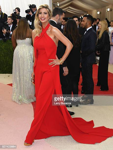 Ivanka Trump attends the 'Manus x Machina Fashion In An Age Of Technology' Costume Institute Gala at Metropolitan Museum of Art on May 2 2016 in New...
