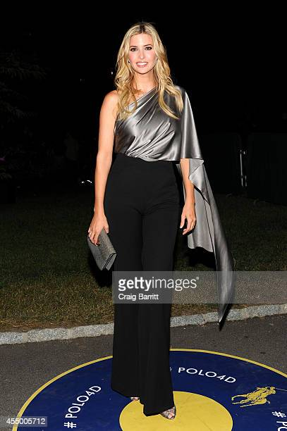 Ivanka Trump attends the Polo Ralph Lauren fashion show during MercedesBenz Fashion Week Spring 2015 at Cherry Hill in Central Park on September 8...