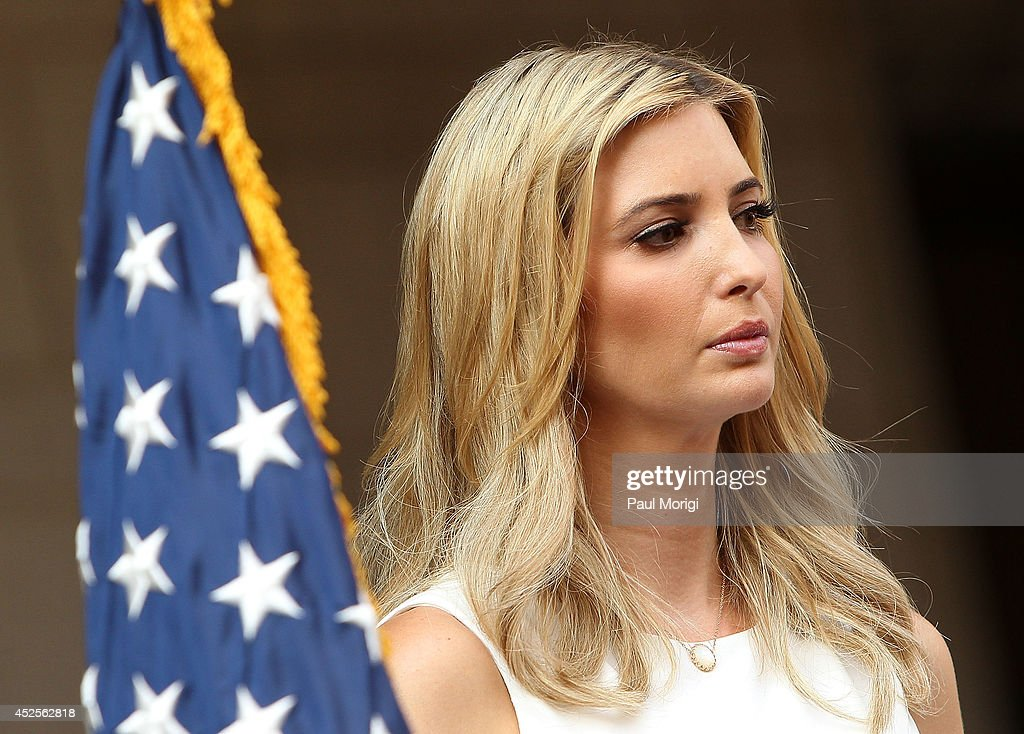 <a gi-track='captionPersonalityLinkClicked' href=/galleries/search?phrase=Ivanka+Trump&family=editorial&specificpeople=159375 ng-click='$event.stopPropagation()'>Ivanka Trump</a> attends the Trump International Hotel Washington, D.C Groundbreaking Ceremony at Old Post Office on July 23, 2014 in Washington, DC.