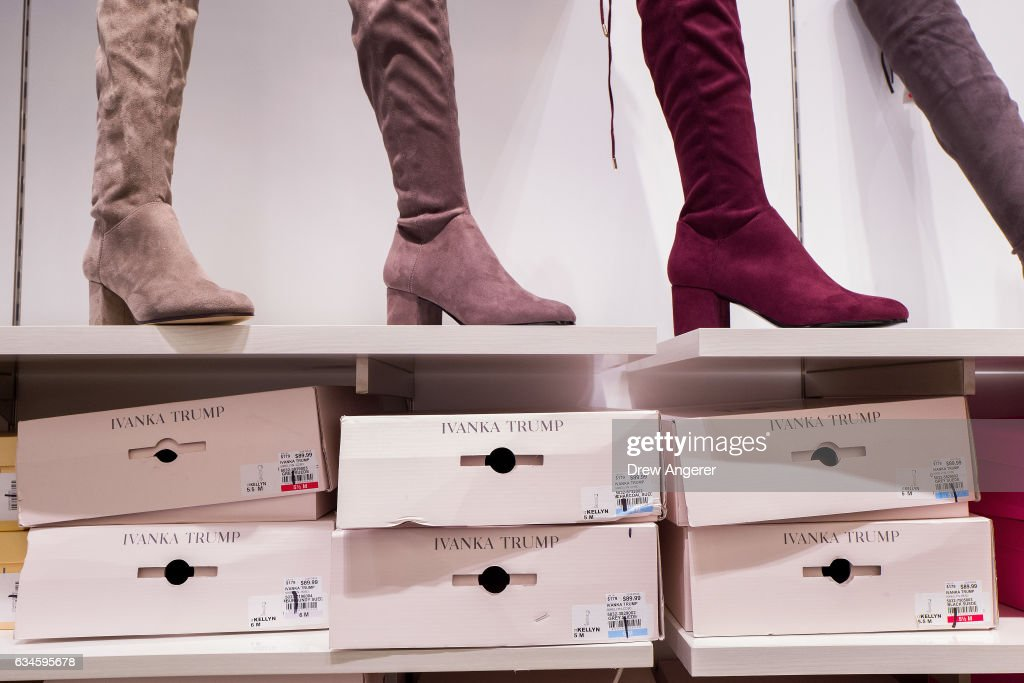 Ivanka Trump brand boots for sale at the Century 21 department store February 10, 2017 in New York City. According to a market research firm Slice Intelligence, Ivanka Trump merchandise saw a 26 percent dip in sales in January 2017 compared to January 2016. Kellyanne Conway, a senior counselor to President Donald Trump, has been accused of ethics violations for promoting the Ivanka Trump fashion line during a television interview on Thursday.