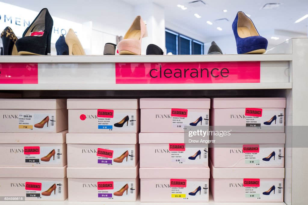 Ivanka Trump brand high heels are on sale in the clearance section at the Century 21 department store February 10, 2017 in New York City. According to a market research firm Slice Intelligence, Ivanka Trump merchandise saw a 26 percent dip in sales in January 2017 compared to January 2016. Kellyanne Conway, a senior counselor to President Donald Trump, has been accused of ethics violations for promoting the Ivanka Trump fashion line during a television interview on Thursday.