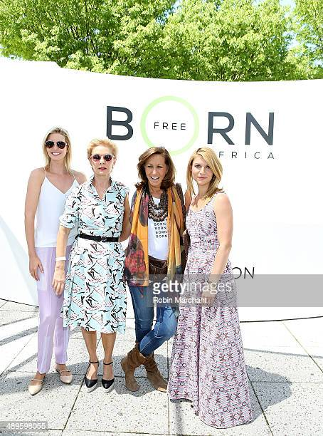 Ivanka Trump Carolina Herrera Donna Karan and Actress Claire Danes attend the Born Free Africa Mother's Day Family Carnival at Hudson River Park Pier...