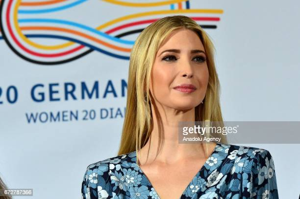 Ivanka Trump daughter and adviser of US President Donald Trump talks during a panel at the W20 Summit in Berlin on April 25 2017 The conference aims...