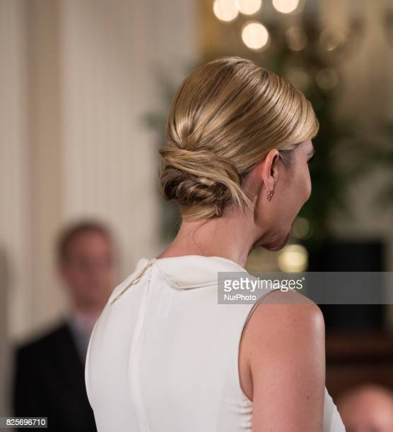Ivanka Trump daughter and advisor to President Donald Trump was present for he Medal of Honor ceremony for former Specialist Five James C McCloughan...