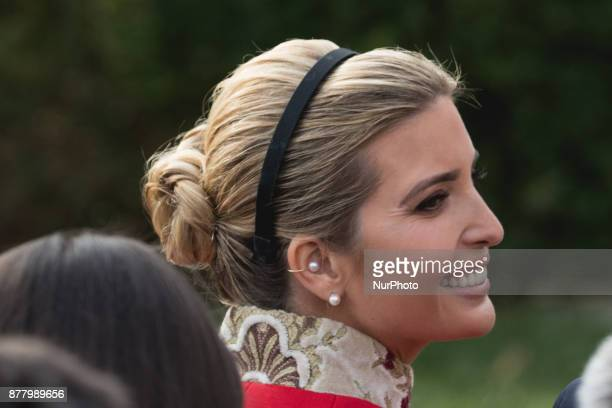Ivanka Trump daughter and assistant to US President Donald Trump was in attendance for the National Thanksgiving Turkey Pardoning Ceremony in the...