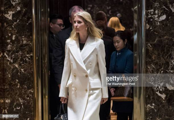 Ivanka Trump daughter of Presidentelect Donald Trump walks out of an elevator at Trump Tower in New York NY on Thursday Nov 17 2016