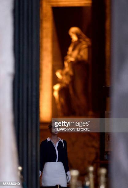 Ivanka Trump daughter of the US president visits the Pantheon in central Rome on May 24 2017 / AFP PHOTO / FILIPPO MONTEFORTE