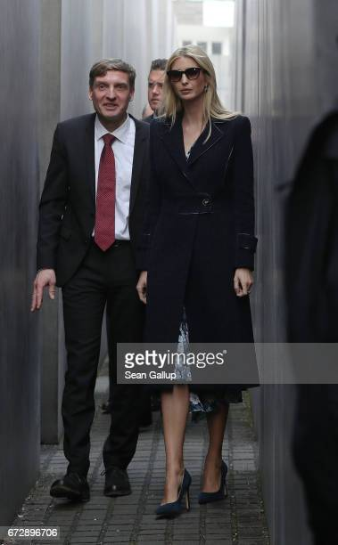 Ivanka Trump daughter of US President Donald Trump and a guide of the memorial walk among stellae at the Memorial to the Murdered Jews of Europe also...