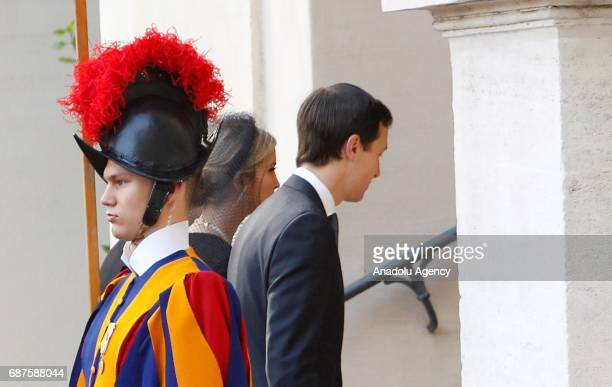 Ivanka Trump daughter of US President Donald Trump and her husband and White House senior advisor Jared Kushner arrive at the Vatican for their...