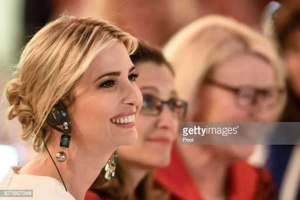 Ivanka Trump daughter of US President Donald Trump Canadian Foreign Minister Chrystia Freeland and the President National Council of German Women's...