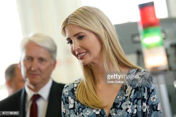 Ivanka Trump daughter of US President Donald Trump is seen at the Siemens mechantronic factory on April 25 2017 in Berlin Germany Ivanka Trump...